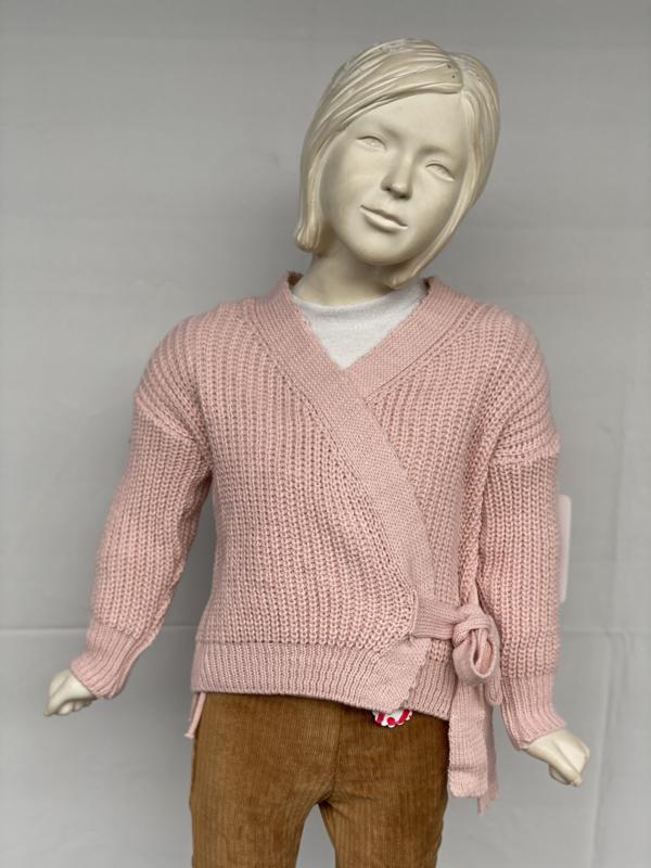 'Nicole ' wikkel vest  roze.