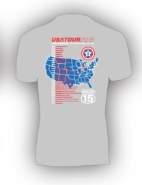 T-shirt USA-tour 2015