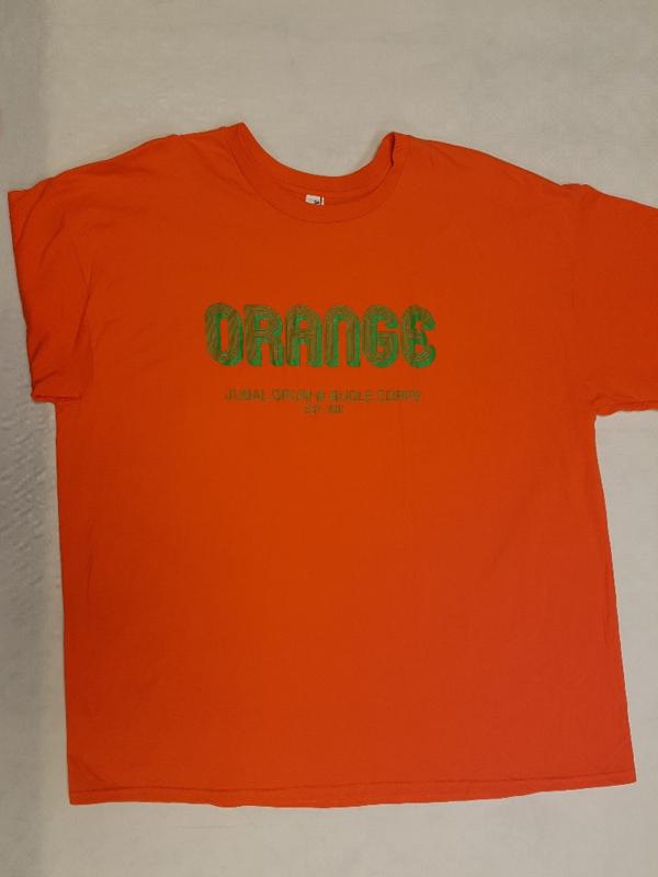 """T-shirt oranje  """"  Orange  """""""