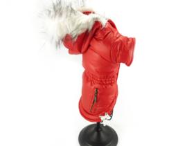 Honden winterjasje rood
