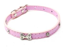 Roze halsbandje met botje - IVY