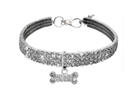 Bling Halsband Zilver - MISSY
