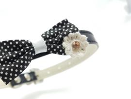 Halsbandje met strikje zwart - JODY