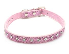 Katten halsband bling roze - COSI