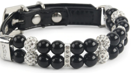 Zwarte Parel Halsband - BLACK