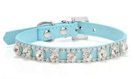 Blauw honden halsbandje bling - PHOENIX