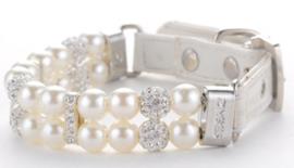Witte Parel Halsband - WHITE