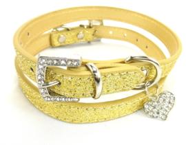 Goud halsbandje met hartje - GOLDY