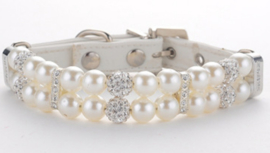 Witte Parel Halsband - WHITE