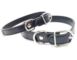 Zwarte halsband met strass - MADDY
