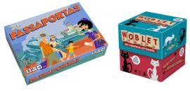 Promo Pakket : Passaportas NL-FR-ENG-DU  + Woblet NL