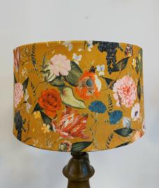 Lampenkap velvet bloemen/druiven