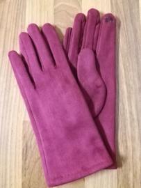 Handschoen donkerrood