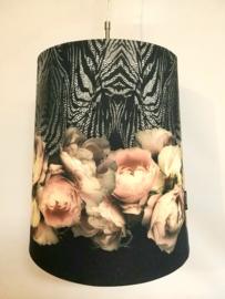 Hanglampenkap zwart/rozen