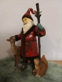 Kerstman met dieren