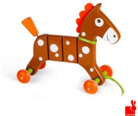 Janod Trekfiguur Crazy Pony bruin paard