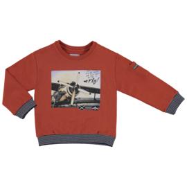 Mayoral sweatshirt lange mouwen aeroplane Rood