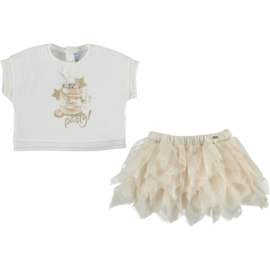 Mayoral Tulle skirt set Party