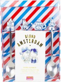 Blond Amsterdam Set van 4 theelepels Delfts