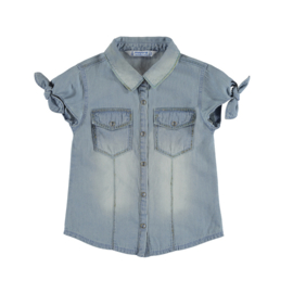 Mayoral Glitter denim blouse