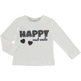 Mayoral t-shirt met lange mouwen Be Happy