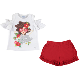 Mayoral Doll glasses topje met shorts set