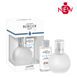 Lampe Berger Bingo Givré Giftset incl. 180ml Caresse de Coton