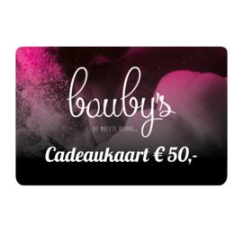 Bouby's Cadeaukaart € 50,-