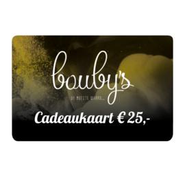 Bouby's Cadeaukaart € 25,-