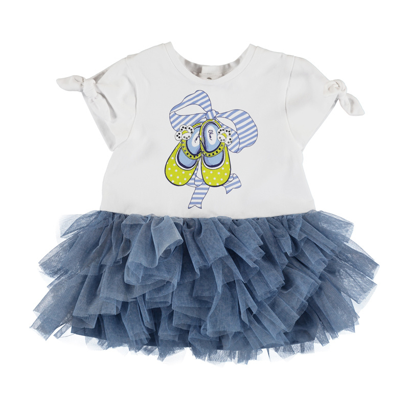 Mayoral Tulle knit dress Baby Girl