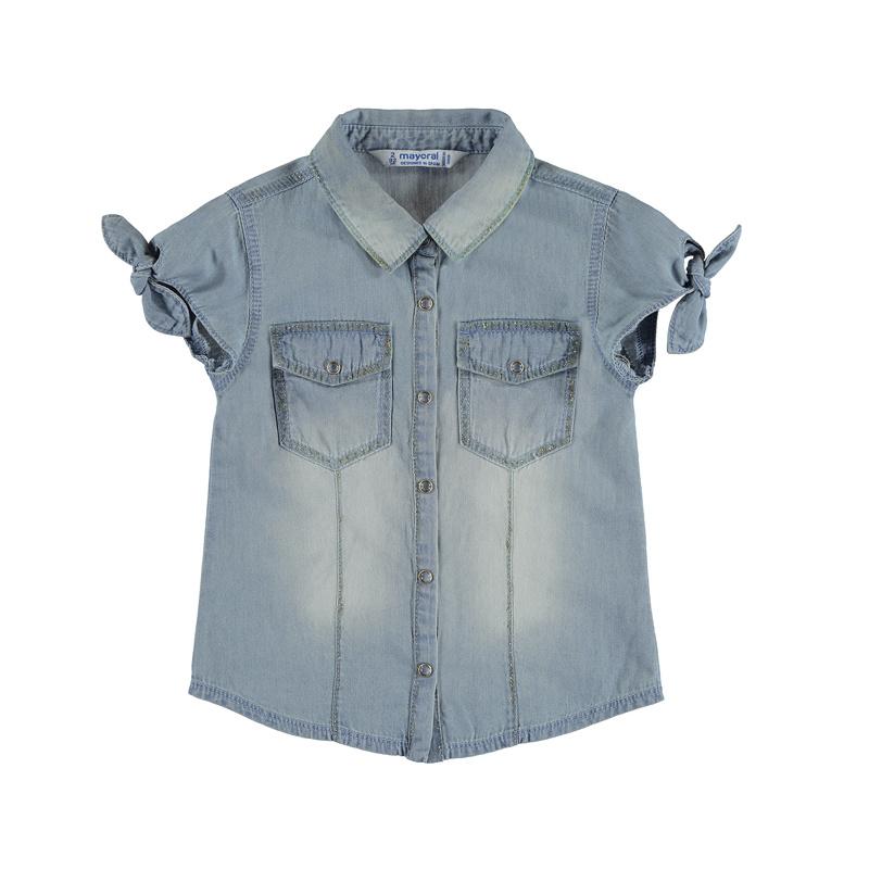 Mayoral Glitter denim blouse