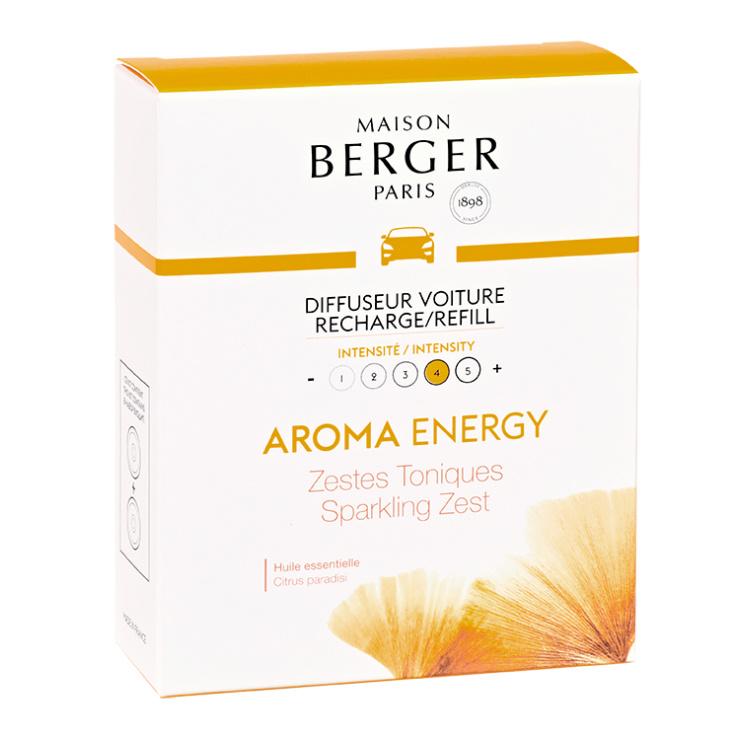 Navulling autoparfum 2 stuks - AROMA Energy Zestes Toniques