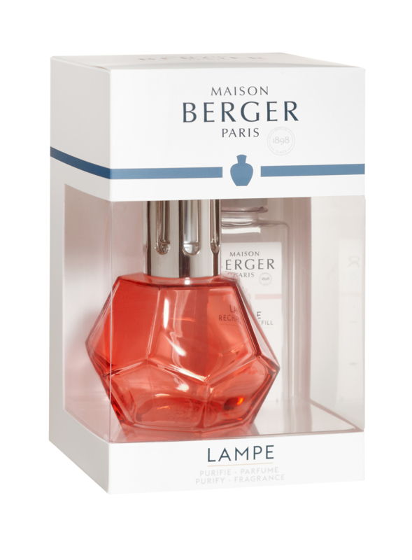 Lampe Berger Geometry Grenadine giftset incl. 180ml Paris Chic