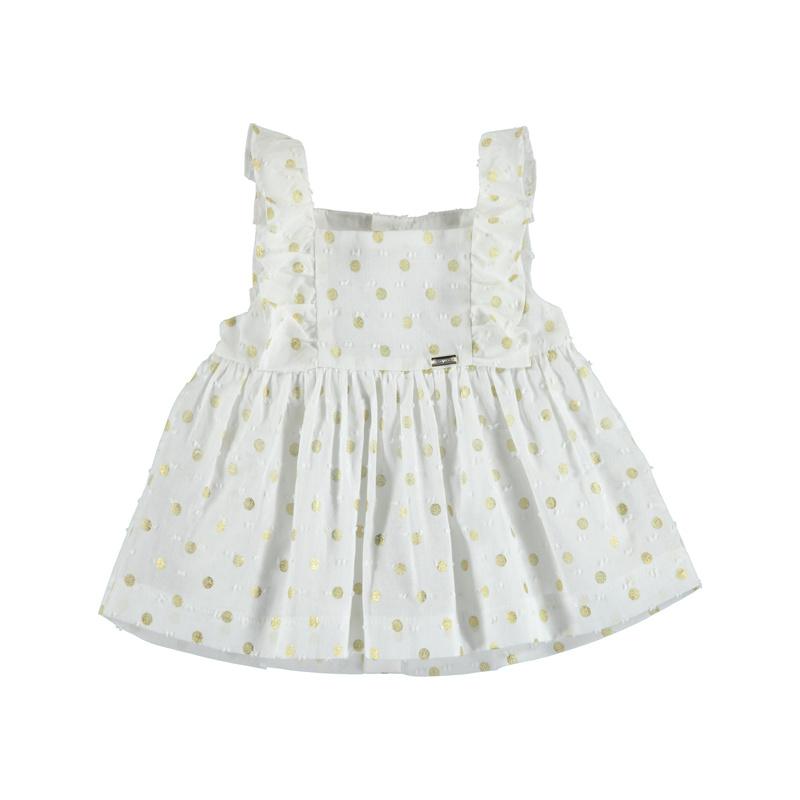 Mayoral Blouse Champagne dots