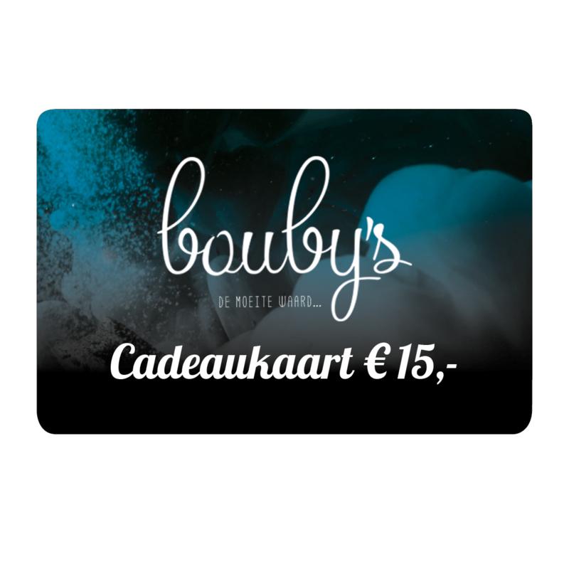 Bouby's Cadeaukaart € 15,-