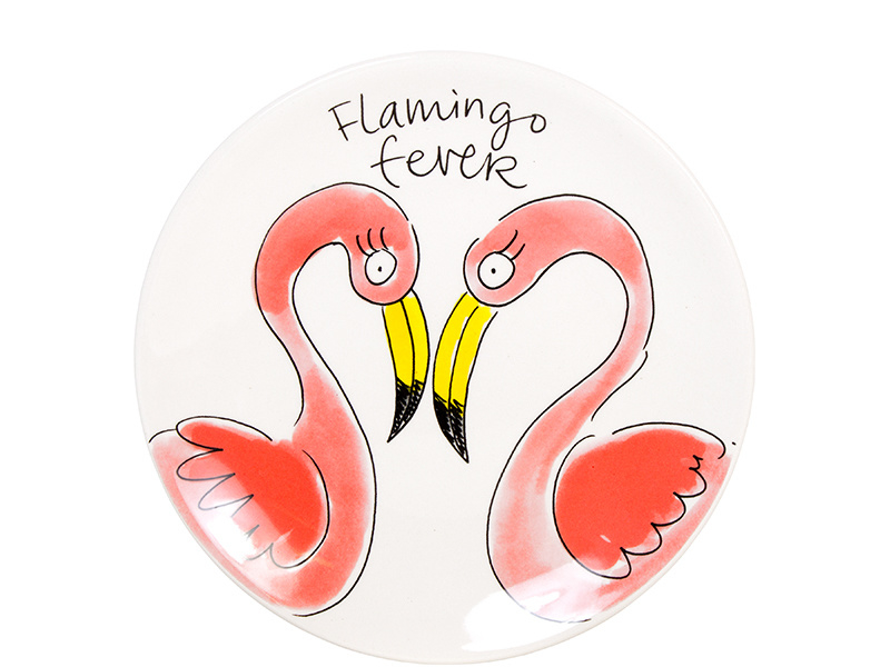 Blond Amsterdam bord ø18cm Flamingo