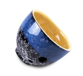 STL TeaCarina - Teacup and Ocarina in One! - Blue-Black-Yellow