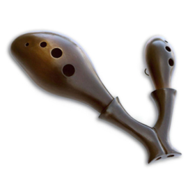 Songbird Harmony Double Ocarina - Ceramic - C Major
