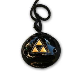 Songbird Triforce Pendant Ocarina - 6 Holes - Ceramic - Bb Major (Soprano) + Songbook