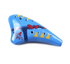 STL Zelda Sheik Ocarina + Zelda Songbook - 12 Holes - Ceramic - C Major (Tenor)