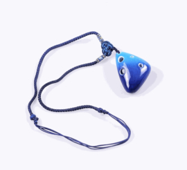 STL Necklace Ocarina - Light & Deep - 6 Holes - Ceramic (Soprano)