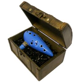 Songbird Zelda Ocarina of Time - 12 Holes - Ceramic - C Major (Tenor) + Chest & Songbook