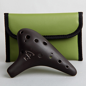 Focalink Stein AC Ocarina - Black Glaze - 12 Holes - Clay - C Major (Alto / Tenor)