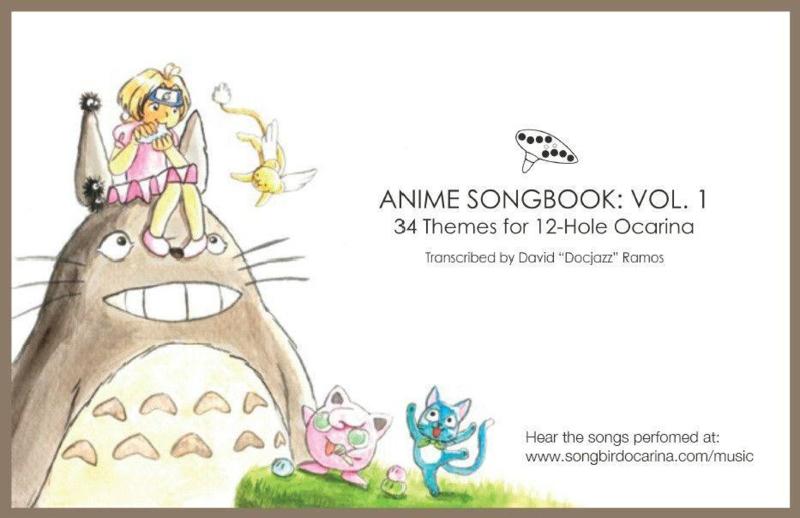 Anime Songbook for 6-hole and 12-hole Ocarinas