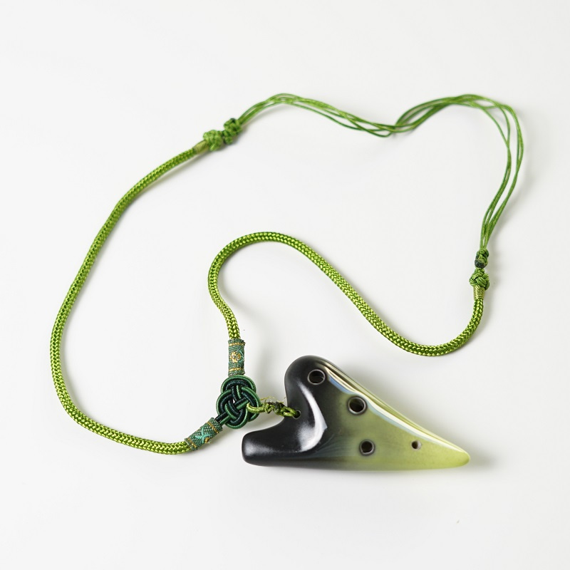 STL Necklace Ocarina - 6 Holes - Ceramic - C Major (Soprano) - Available in 5 Colors