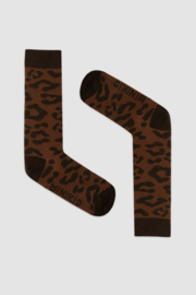 Minikid - Leopard Brown Knee Socks