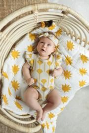 Zezuzulla - Yellow Flora Frilled Bodysuit