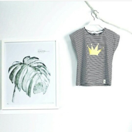 Omho - Striped oversized t-shirt gold crown