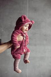 Zezuzulla - Eared Jumpsuit Fuzzy Pink