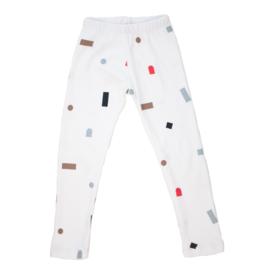 Hi Little - Logo shapes white legging